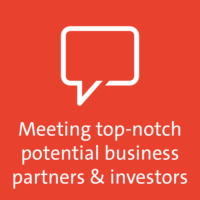 Meeting top-notch potential business partners & investors